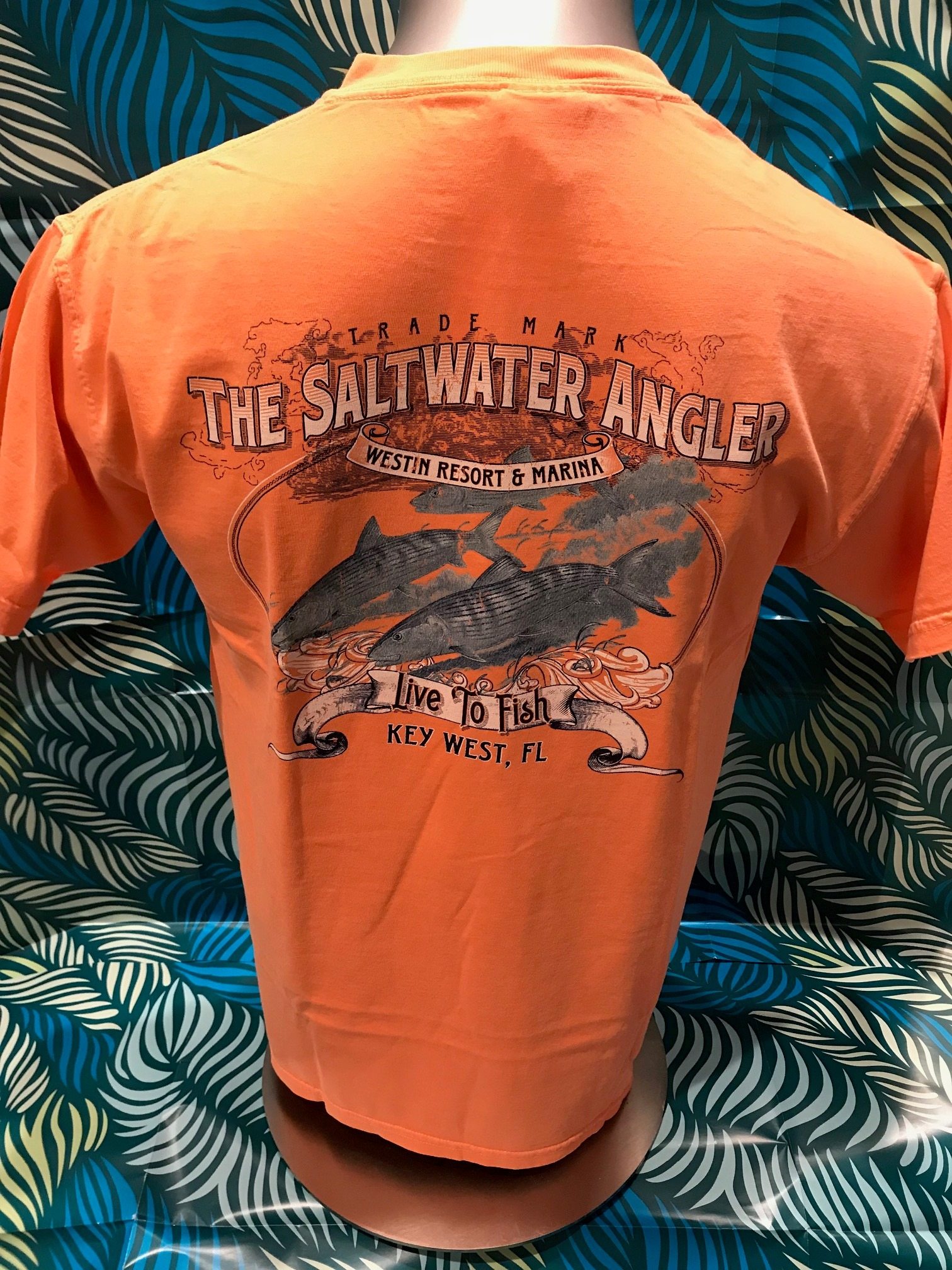 Salt Water Angler Comfort Colors Short Sleeved: Bonefish