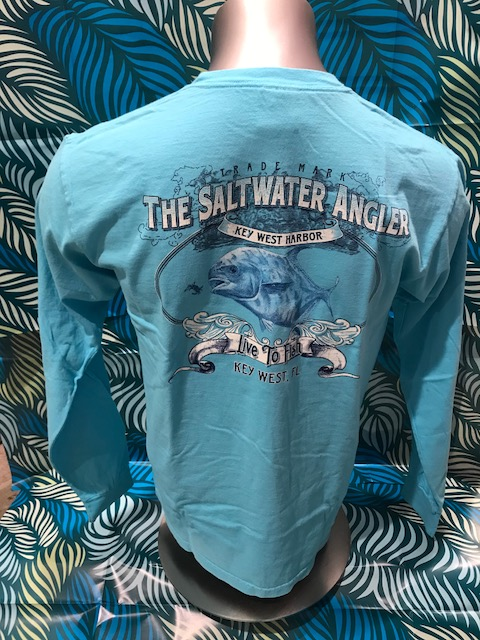 Salt Water Angler Comfort Color Long Sleeved: Permit