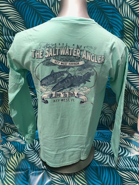 Salt Water Angler Comfort Color Long Sleeved: Bonefish