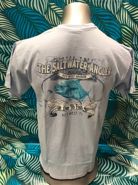Salt Water Angler Comfort Colors Short Sleeved: Permit