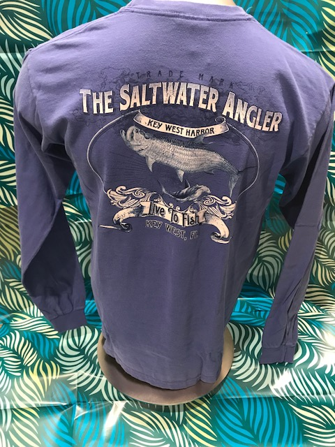 Salt Water Angler Comfort Color Long Sleeved: Tarpon