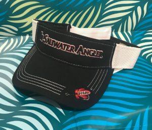 Saltwater Angler Black Visor