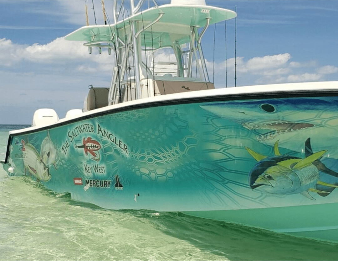 saltwater angler fishing boat